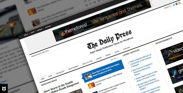 ThemeForest - The Daily Press: Super Simple WP Publication Theme ...