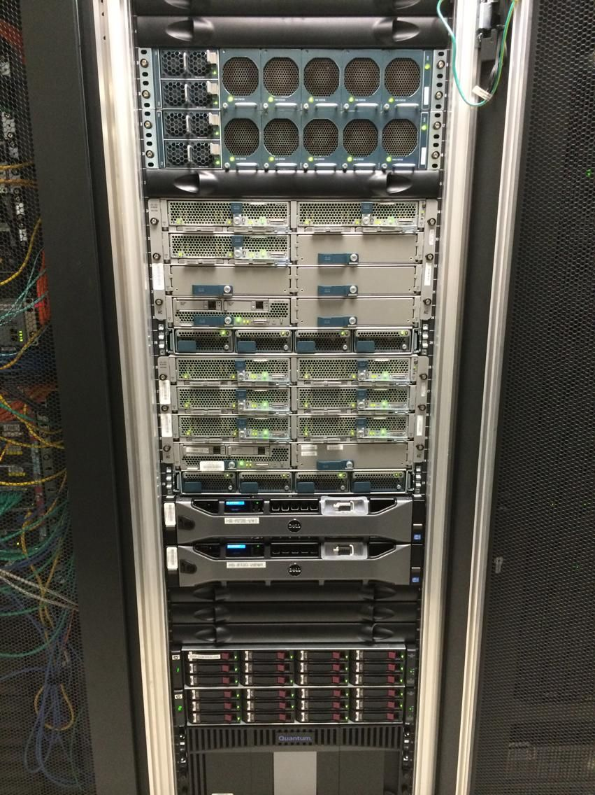 Cisco UCS 5108 cluster running Cisco Unified Communications