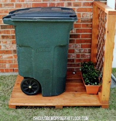 10 Clever Ways To Camouflage Your Trash In 2020 Hide Trash Cans Garbage Can Storage Trash Can Storage Outdoor