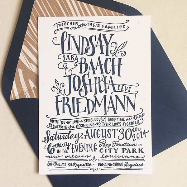 Wedding Invitation Giveaway: 10 Swoon-Worthy Letterpress Invitations + Giveaway