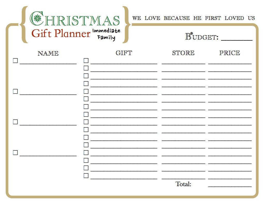 Christmas List Organizer.Christmas Gift Organizer Printable I Usually Do This