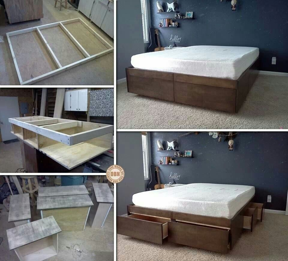 How to Build a Platform Bed With Drawers Underneath