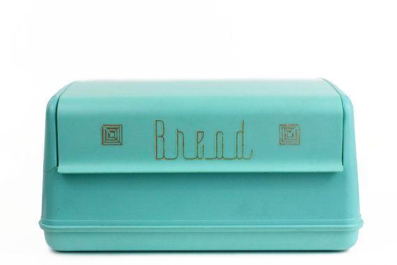 Turquoise Bread Box Interesting Lustroware Bread Box Turquoise Aqua Gold Turquoise Dream Kitchen