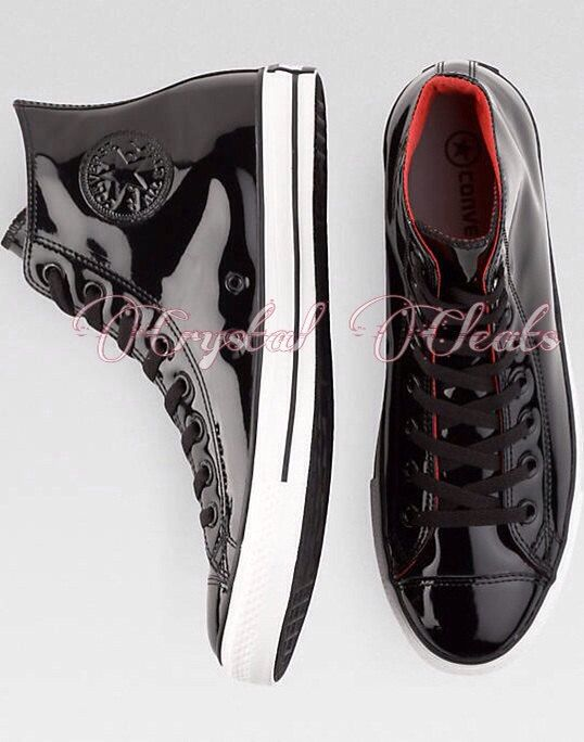 9754ef386862 ... coupon for shiny patent leather black or white high top tuxedo approved converse  all star chucks