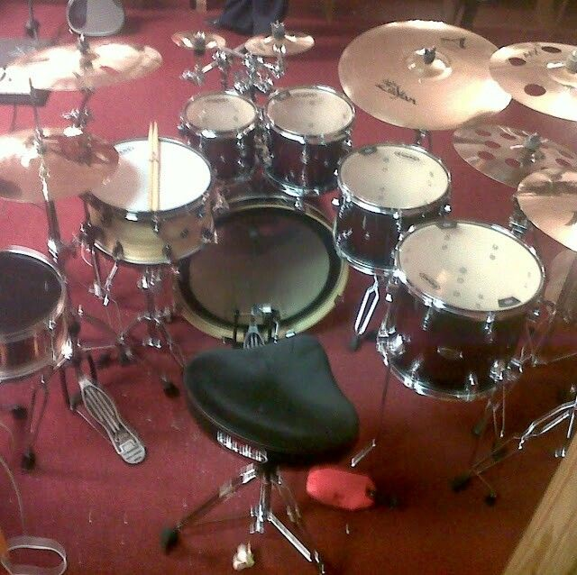 my church setup my drumset drums music instruments instruments. Black Bedroom Furniture Sets. Home Design Ideas