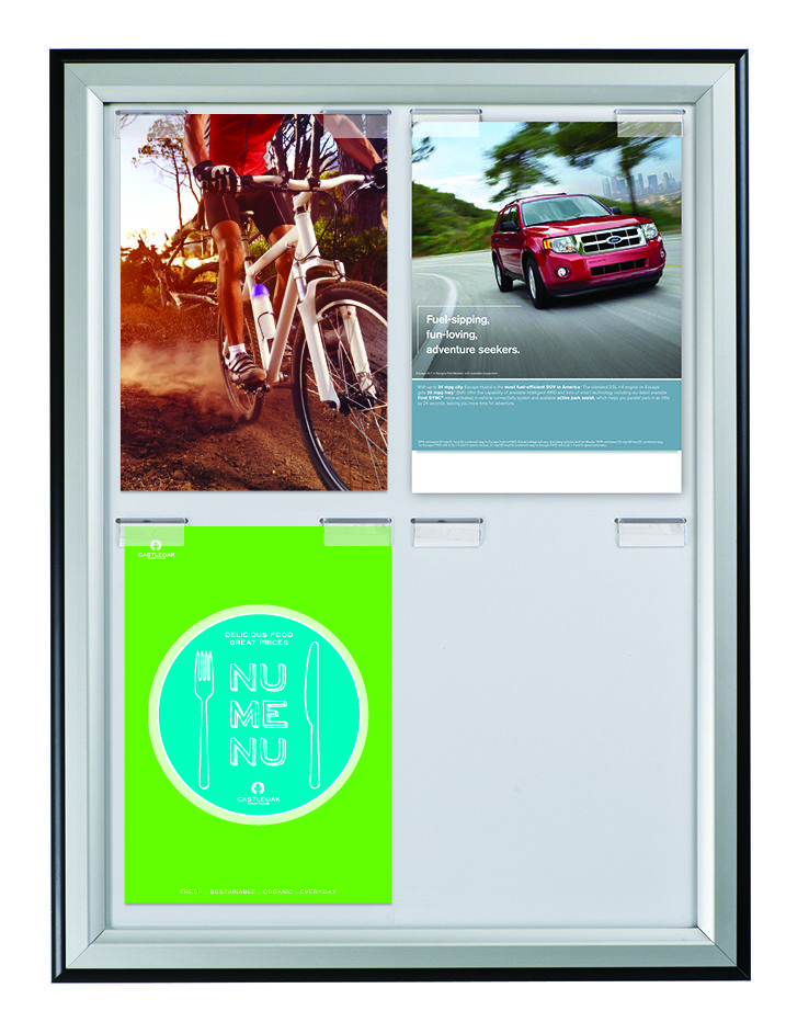 Paper Board Duo. A stylish modern frame featuring clips to hold 4x ...