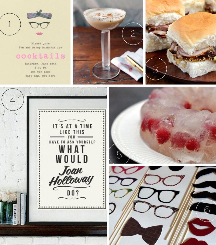 mad men party ideas   Domestic Slice Home + Garden   Pinterest ...