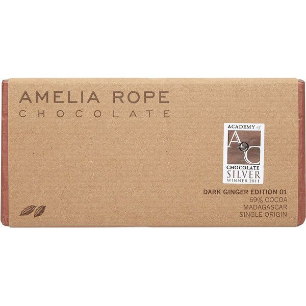 Amelia Rope Dark Ginger Edition 01 Chocolate Bar 100g (380 DOP) ❤ liked on Polyvore featuring fillers and food and drink