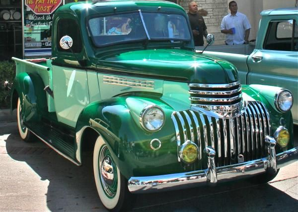 41 Chevy Truck Greeting Card for Sale by Gwyn Newcombe