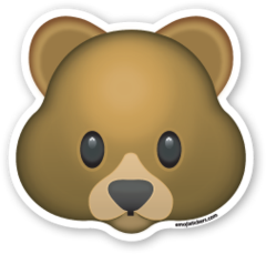 Bear Face Emojistickers Com Bear Emoji Emoji Tattoo Bear Face