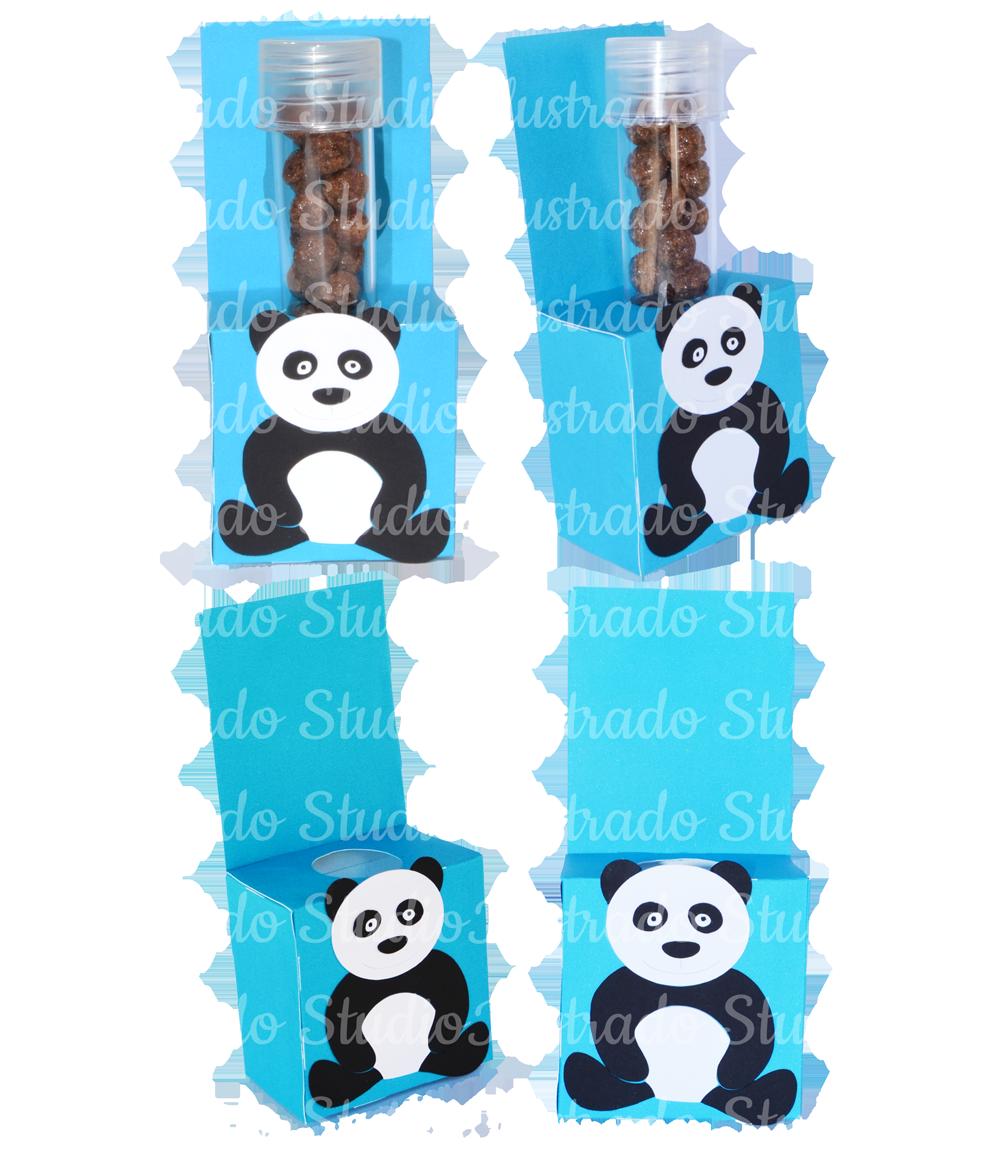 Silhouette, 3D Project, Panda, Bear, Urso, Tube, Box, Tubo de ensaio, Caixa
