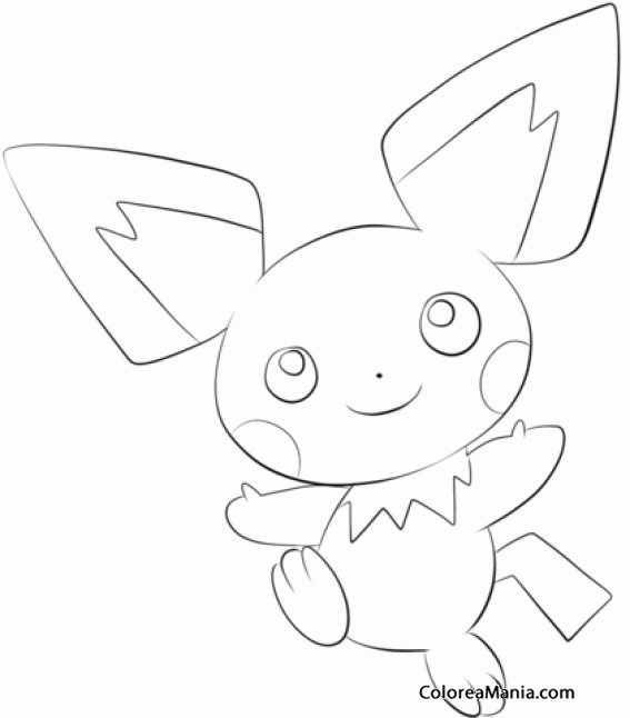 pichu coloring page from generation ii pokemon category select from 28148 printable crafts of cartoons nature animals bible and many more