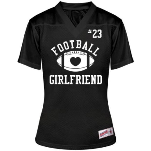 Cute Football Girlfriend Custom Junior Fit Soffe Replica Mesh