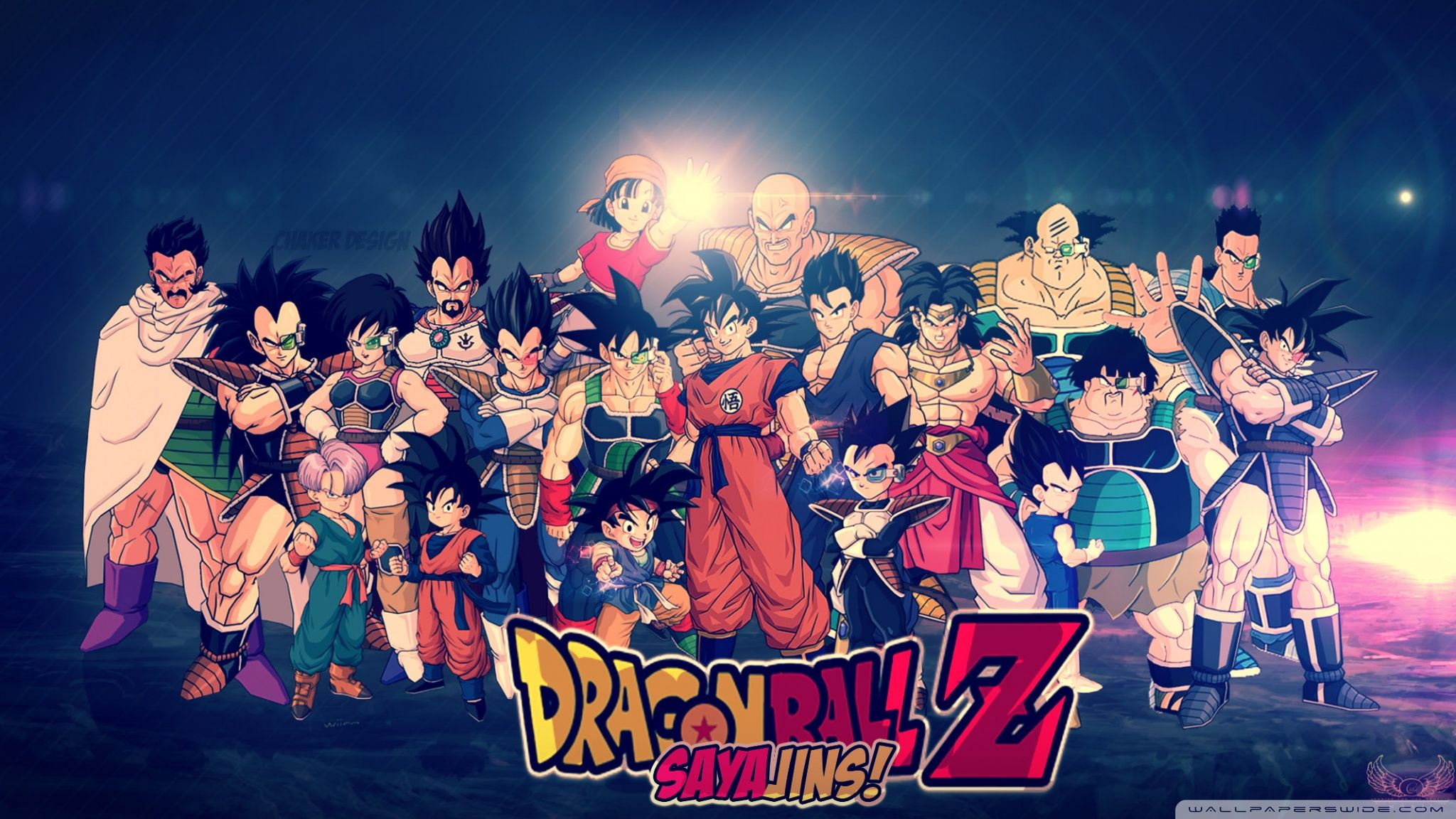 Dragonball Z Saiyan Family HD Wallpaper Wallpaper