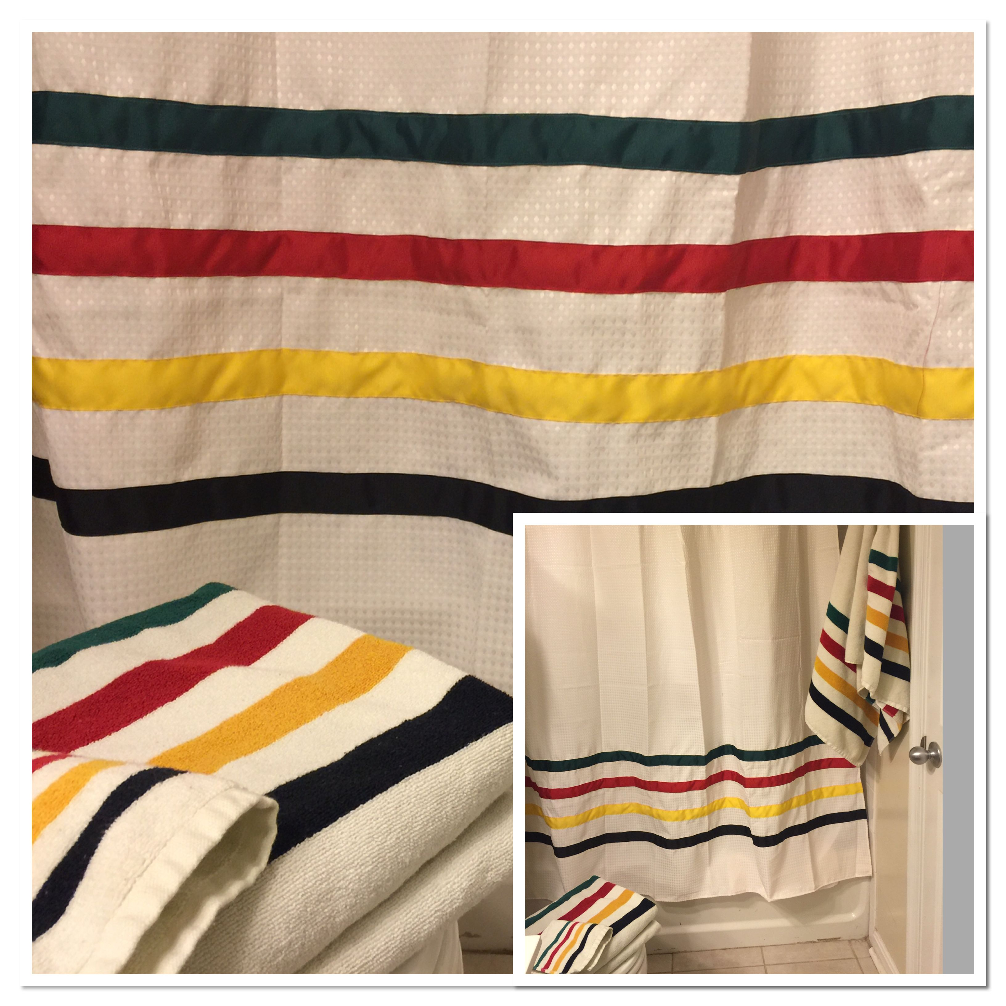 Pendleton Pendletonwm NationalParks Glacier National Parks I Made This Shower Curtain To Match Towel Set From Woolen Mills
