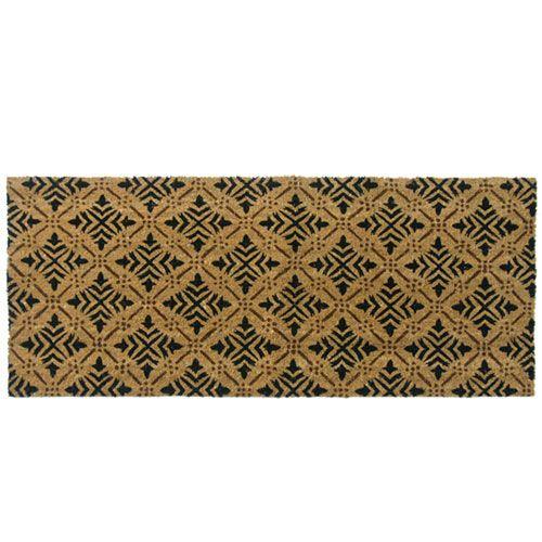 Tan Classic Fleur de Lis French Matting Double Door Mat