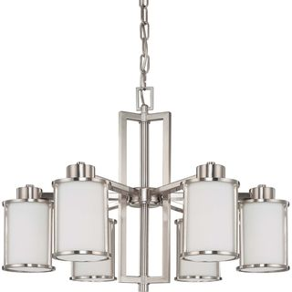 Awesome Nuvo Odeon 6 Light Brushed Nickel Chandelier
