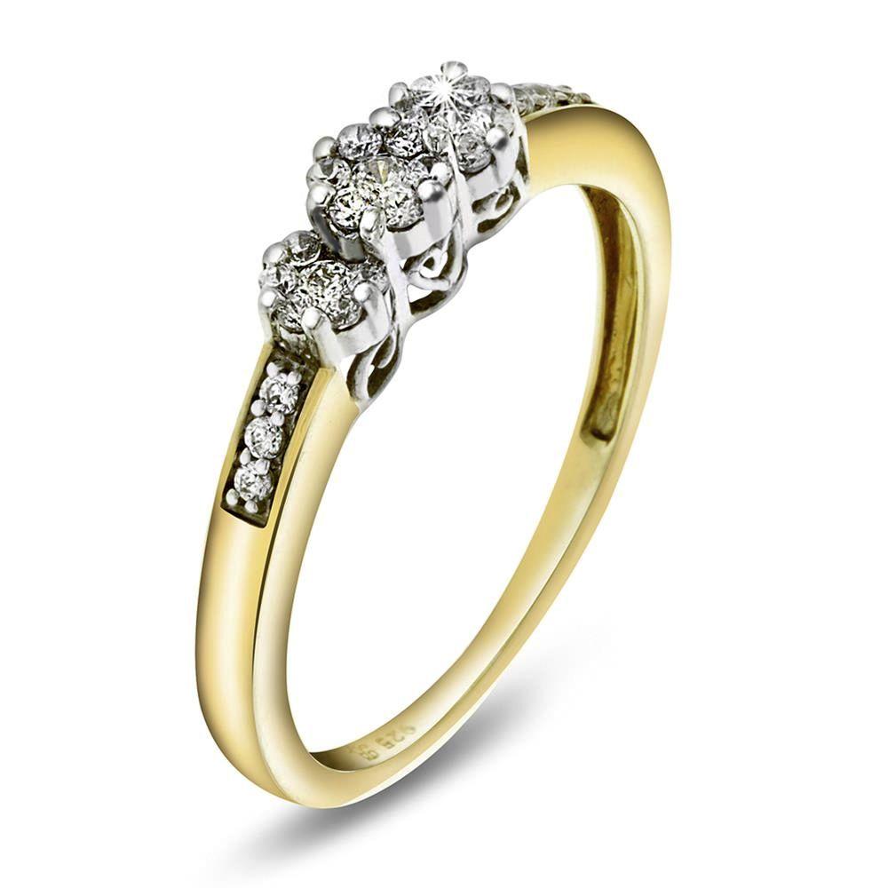 gul diamant ring