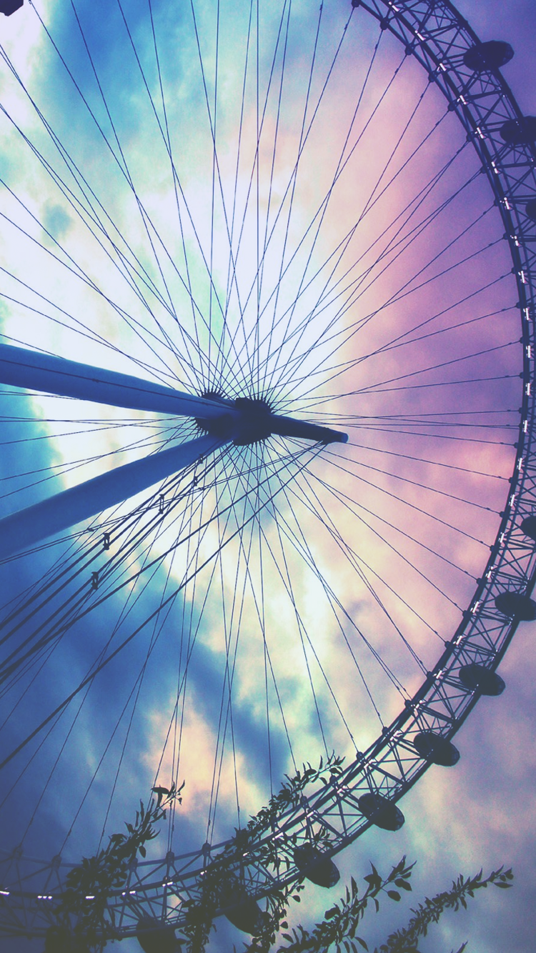 Ferris Wheel Pastel Sky Iphone 6 Wallpaper Click For More Free