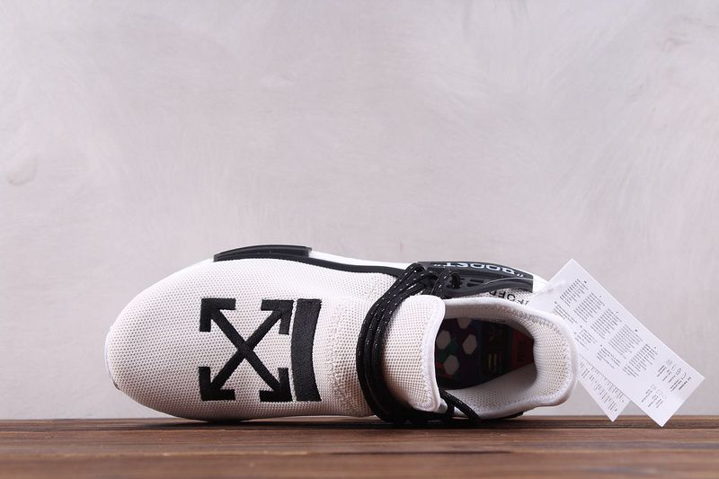 new style c5d61 1eccf Custom Off-White x Adidas NMD HU Pharrell Human Race White ...