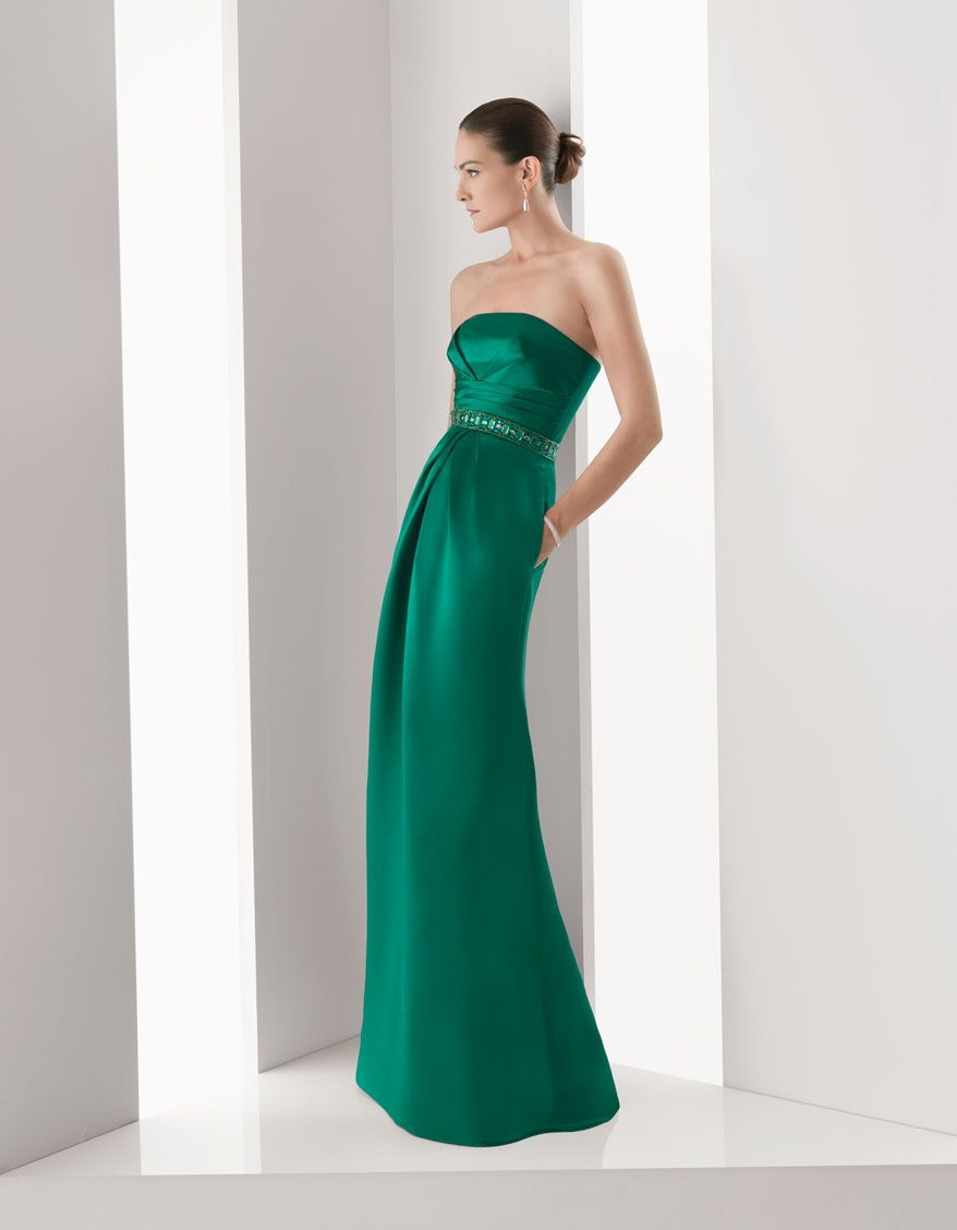 Long dress for wedding guest  Perfect  Style  Pinterest  Green evening dress Rosa clara and