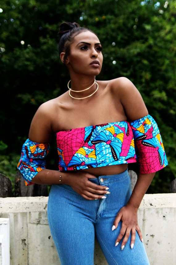 bce2c5d1709 Chichi Ankara African Wax Print Off Shoulder Top ~DKK ~African fashion