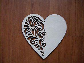 Dekorácie - Drevené srdce - ornament - 2225615