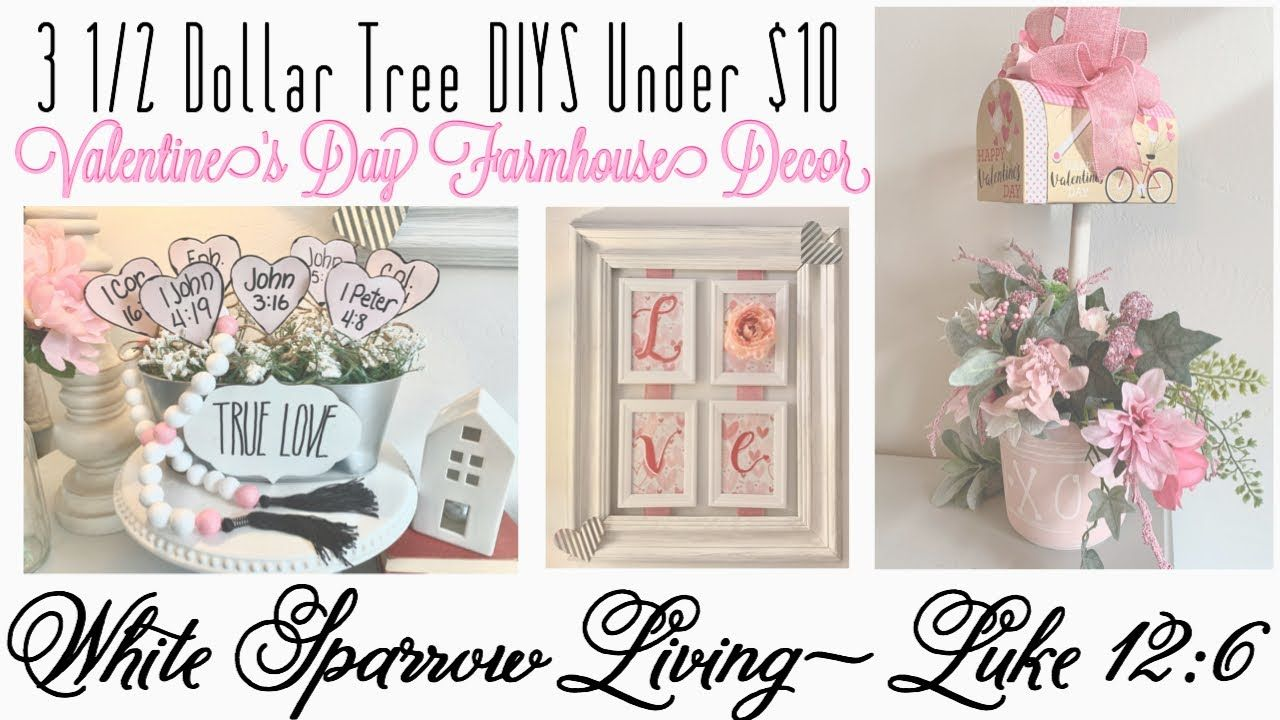 3 1/2 DOLLAR TREE DIY FARMHOUSE 💗 VALENTINE'S DAY DECOR