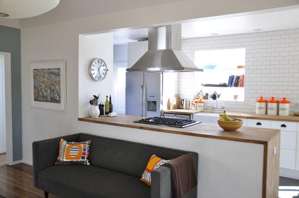 Half Wall Kitchen Contemporary
