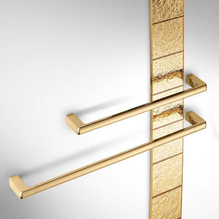 Porte-serviettes design LULU en laiton chromé ou doré, COLOMBO