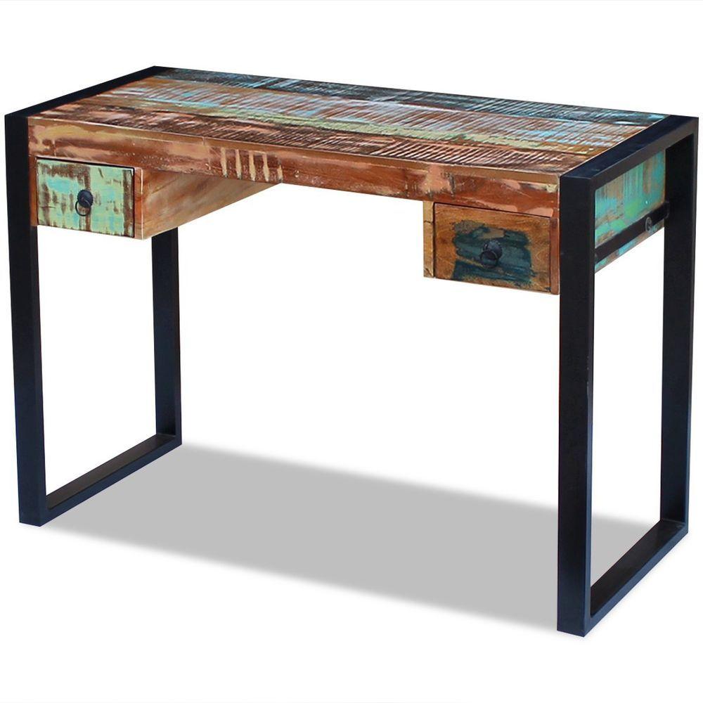 vidaXL Solid Reclaimed Wood Workstation Computer Desk Home Office ...