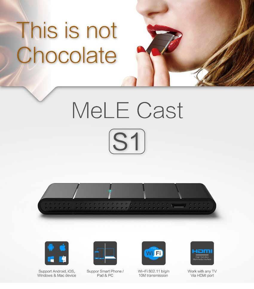 MeLE Cast S1 TV Stick WIFI Display Dongle Adapter Miracast DLNA