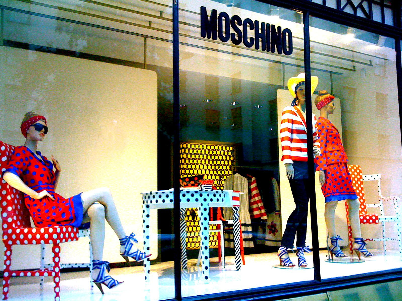 Moschino window display