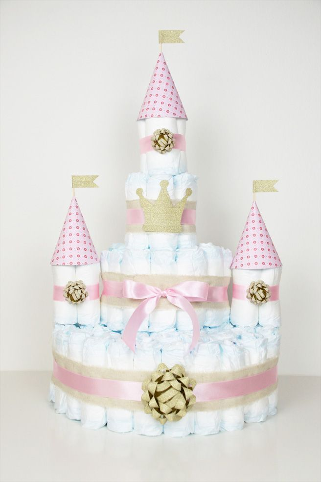 Photo of Diaper cake for little princesses