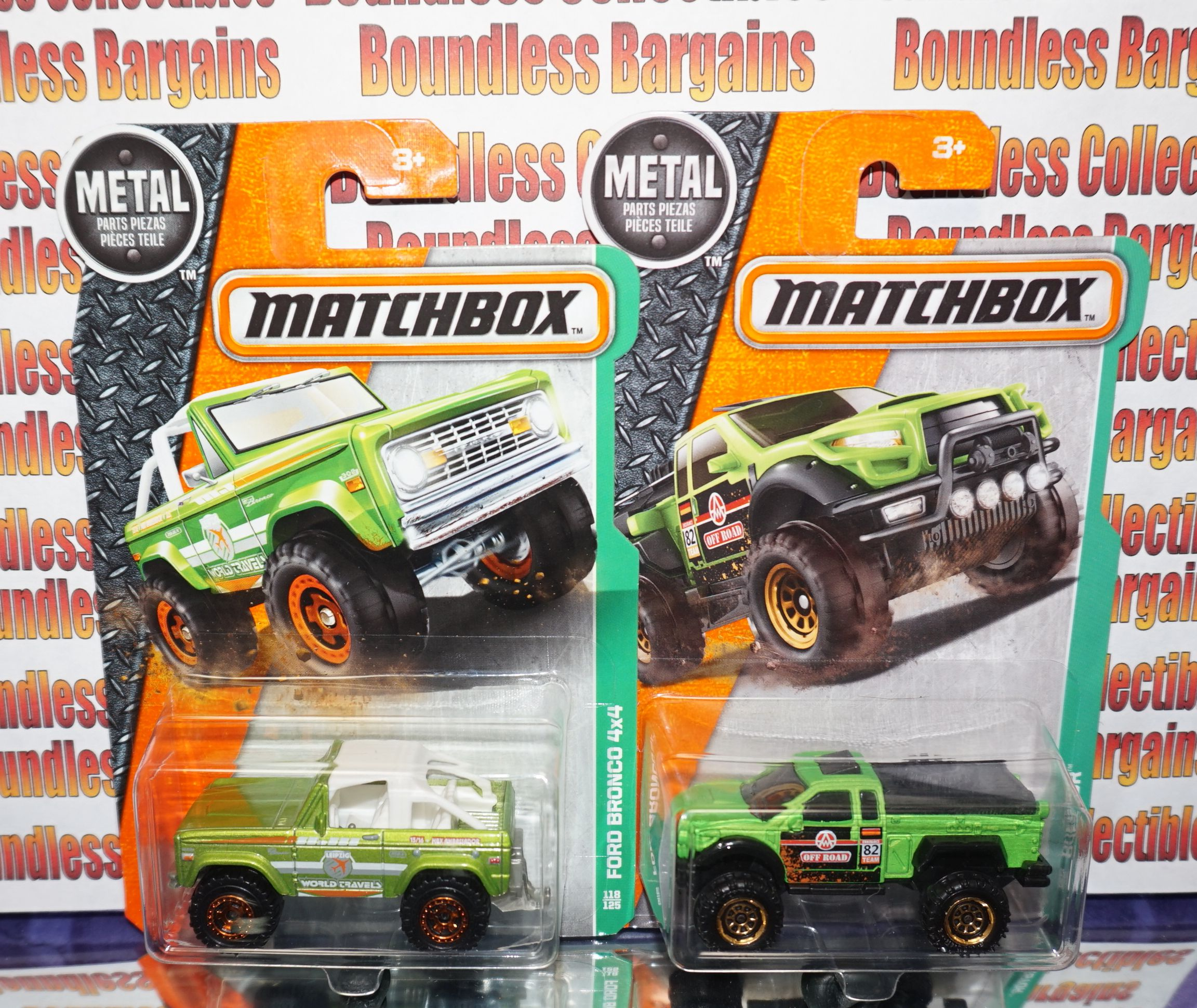 Matchbox Ford Bronco II Grey Pirhana 4x4 1993 39 Box   Matchbox For ...