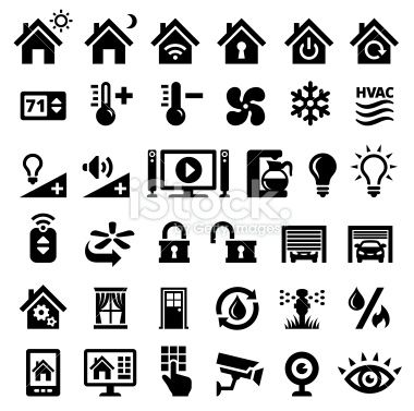 Home Automation Black And White Royalty Free Vector Interface Icon
