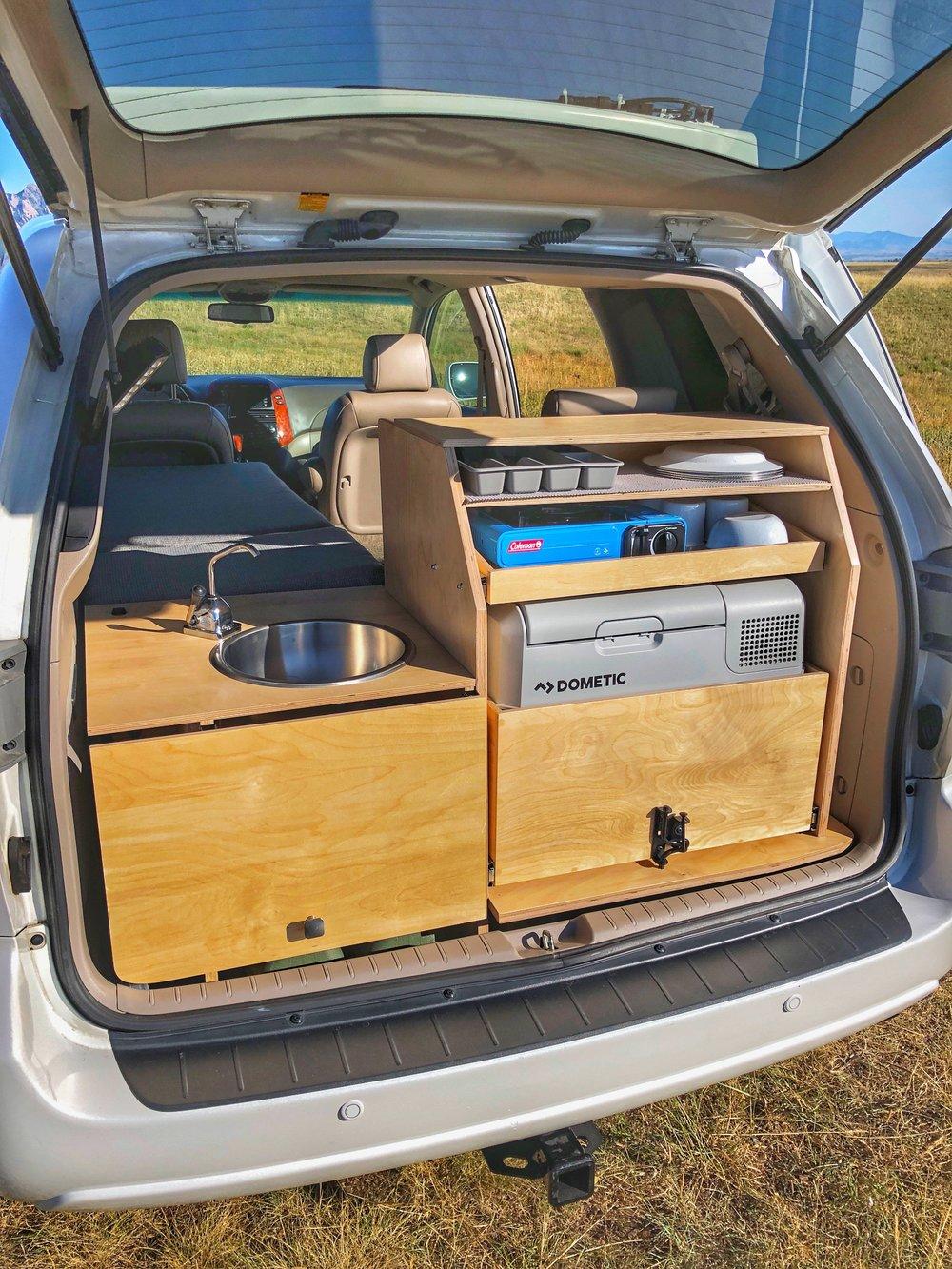 Toyota Sienna Camper Conversion Contravans Car Camping Systems In 2020 Minivan Camper Conversion Mini Van Toyota Sienna