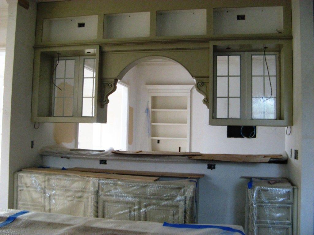 Arch Over Kitchen Sink Opening Google Search Luxury Kitchen Design Best Kitchen Cabinets Living Room Designs