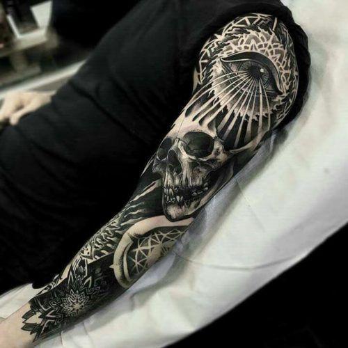 De 200 Fotos De Tatuajes En El Brazo Para Hombres Tatuajes Manga Completa Media Manga Tatuaje Manga De Cráneo