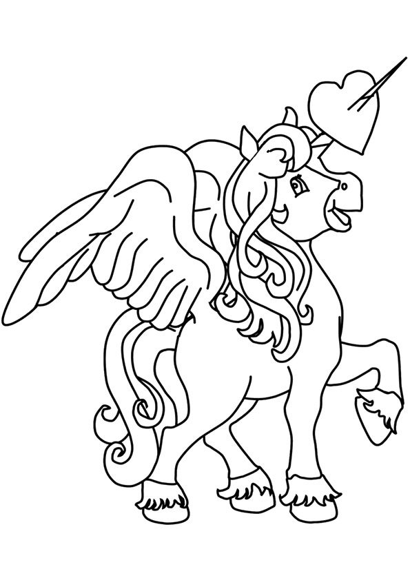 Print Coloring Image Momjunction Unicorn Coloring Pages Coloring Pages Unicorn Wings