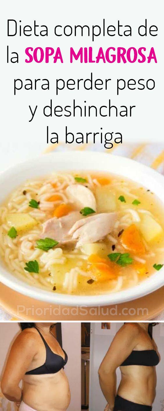 Dieta Completa De La Sopa Milagros Para Perder Peso Y Deshinchar La Barriga Comida De Dieta Bajar De Peso Comida Saludable Bajar De Peso Dieta Completa