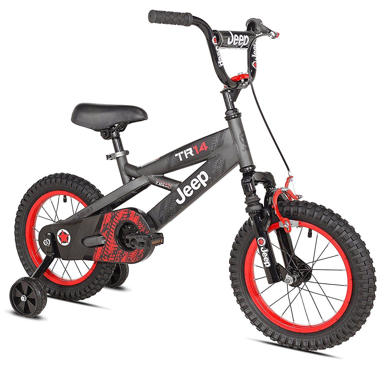 14 Inch Jeep Bike Grey Black Red Bike With Training Wheels Boy