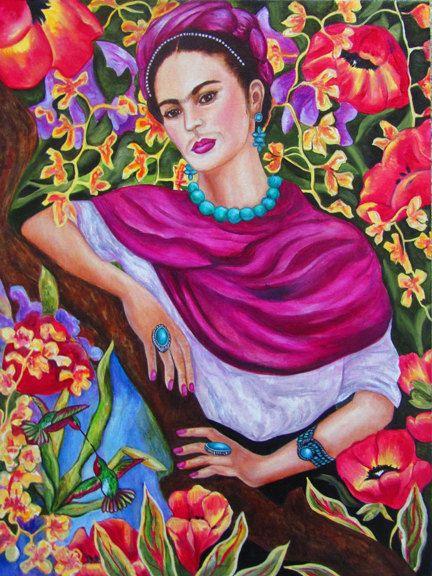 Impresi n de frida kahlo frida kahlo art poster arte for Cuartos decorados de frida kahlo