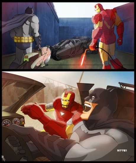 When Batman and Iron man become friends...