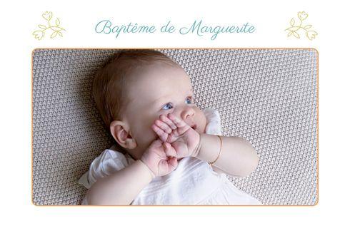 Carte De Remerciement Bapteme Merci Champetre Photo By Mr Mrs