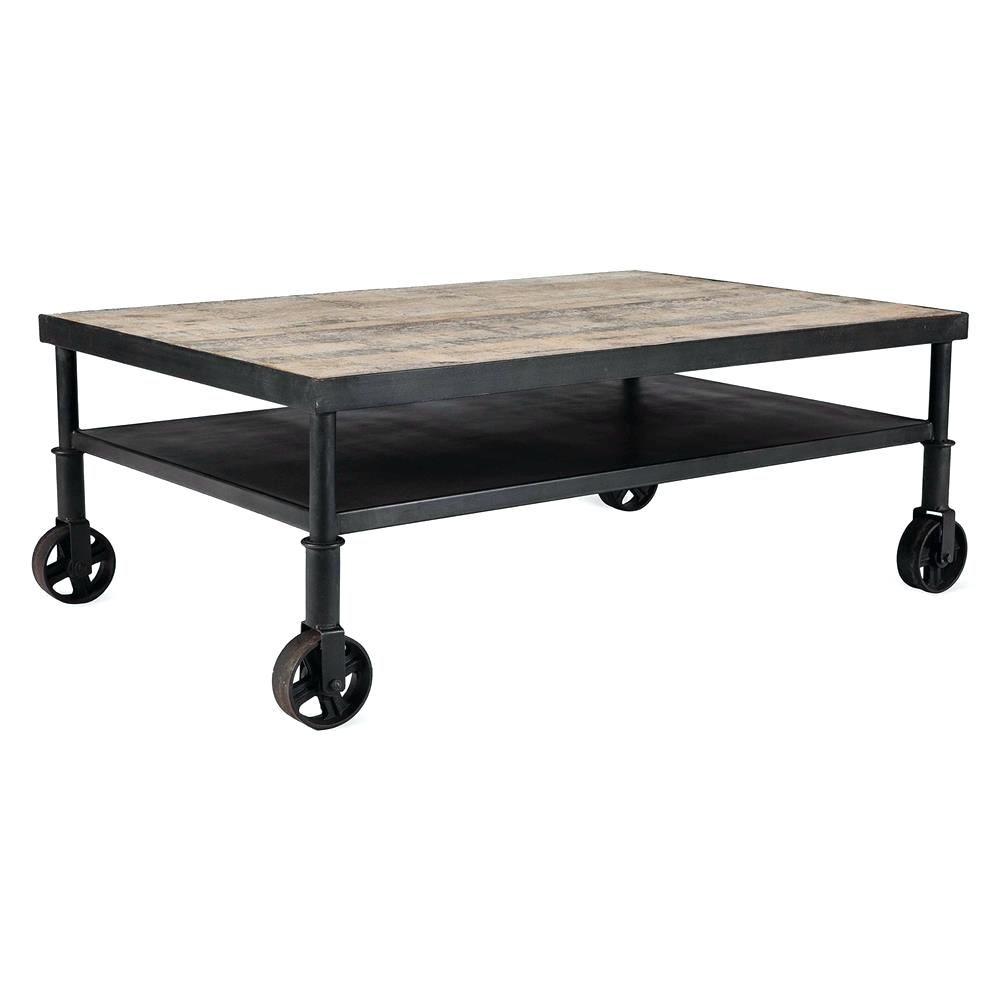 Coffee Table Belker Industrial Loft Reclaimed Wood Iron Casters Cart Coffee Tableround Table On Wheels Ikea Glass Glass Coffee Table Wheel [ 1000 x 1000 Pixel ]