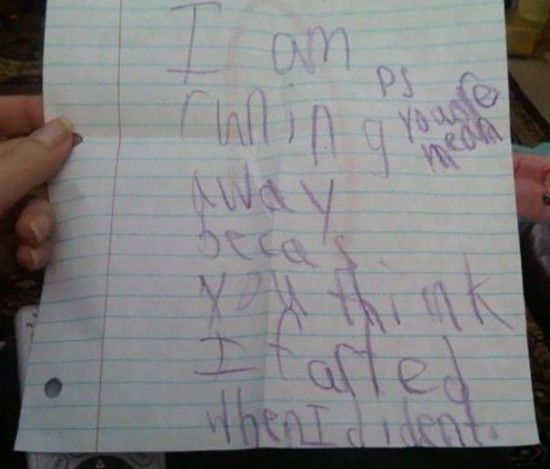 Funny Honest Notes Written By Kids
