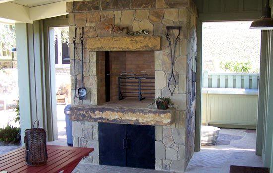 Love This Tuscan Waist High Fireplace Masonry Construction