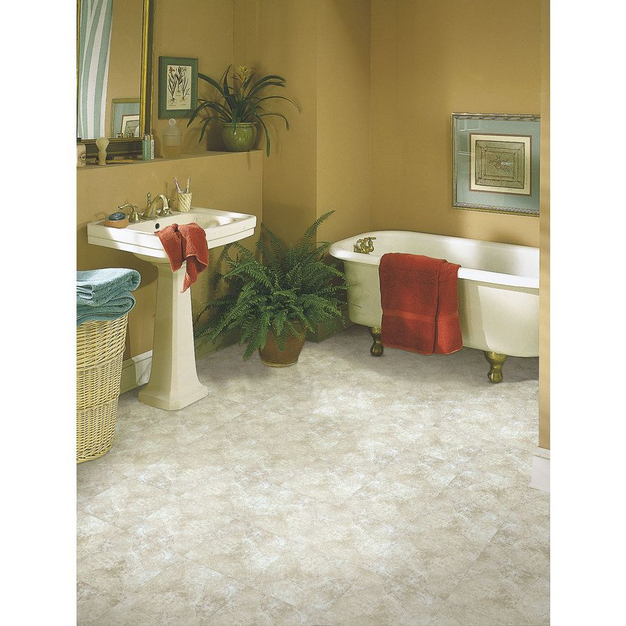 Shop Armstrong Terraza 12 In X 12 In Chalk Peel And Stick