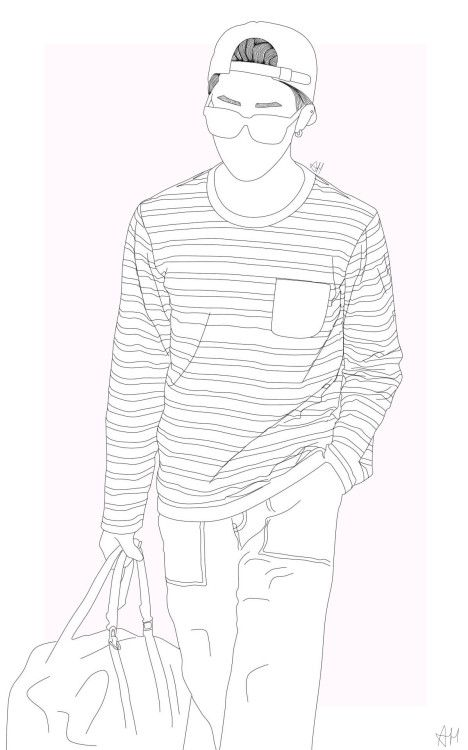 Image Result For Seokjin Bts Line Art Tumblr Avec Images